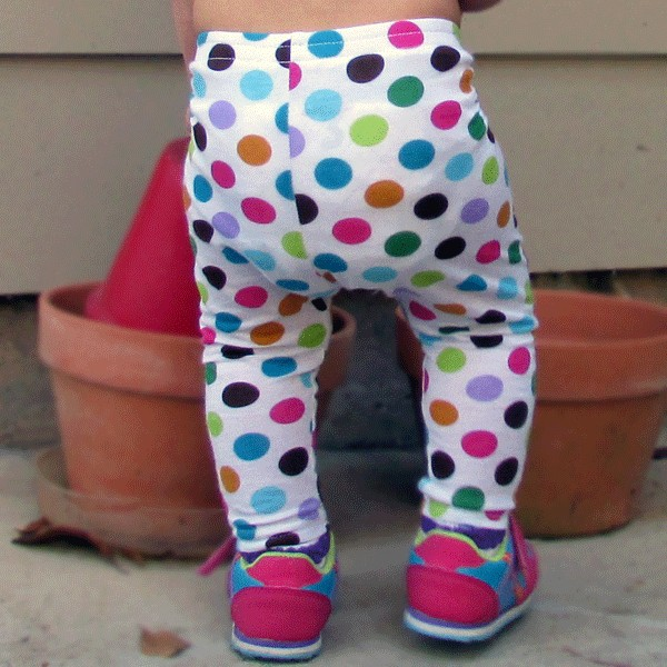 Bright Polka Dot Baby And Toddler Leggings Lucky Skunks