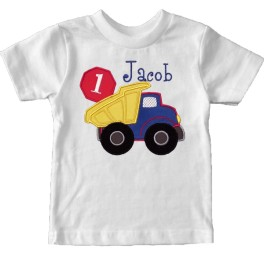 Birthday outfits gt construction truck t shirt
