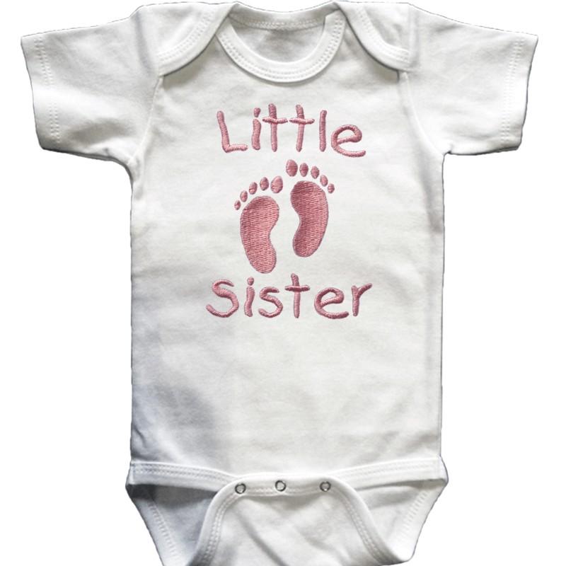 Little Sister Little Brother Baby Shirt Lucky Skunks