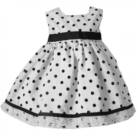 Black And White Polka Dot Baby And Toddler Dress Lucky