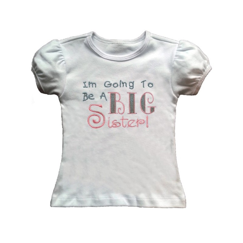 i u0026 39 m going to be a big sister t-shirt