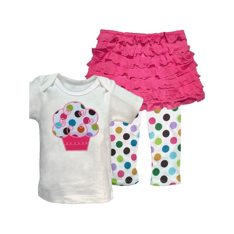 Pink Cupcake Baby Outfit