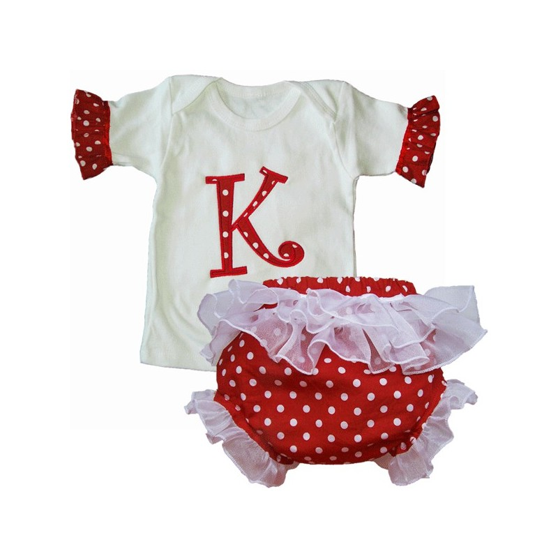 Custom polka dot baby outfit