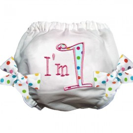 I'm 1 Polka Dot Birthday Bloomers