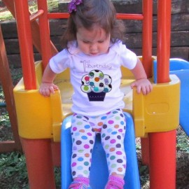1st Birthday Purple Cupcake T-shirt