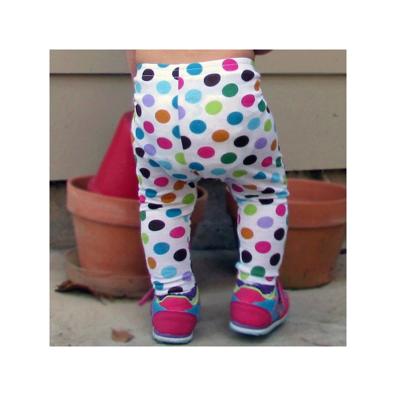 b15e7c8d5a54a Bright Polka Dot Baby and Toddler Leggings - Lucky Skunks Baby ...