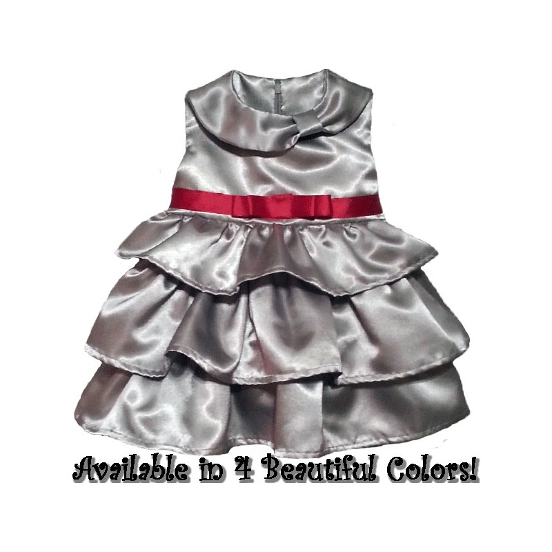 Beautiful Ruffled Christmas Dress For Baby Amp Toddler