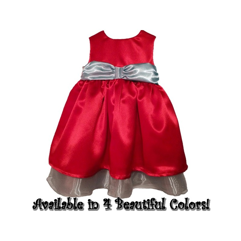 Beautiful Red Satin Baby Amp Toddler Christmas Dress Lucky