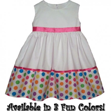 Happy In Polka Dots Baby Toddler Dress