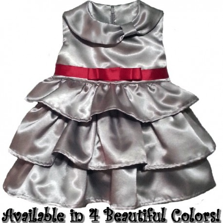 Beautiful Ruffled Special Occasion Baby Toddler Dress