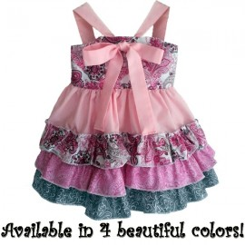Sweetness In Pink Ruffles Toddler Dress