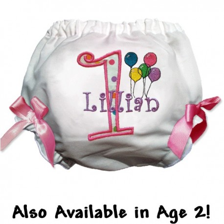 Personalized 1st Birthday Balloons Bloomers