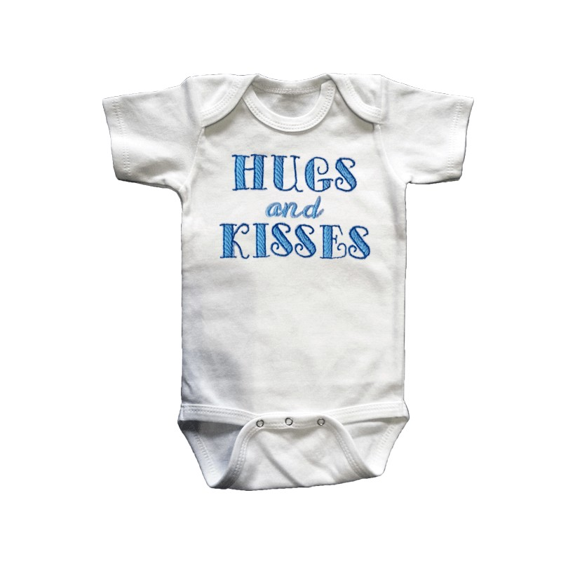Hugs And Kisses Blue Baby Outfit Lucky Skunks Baby