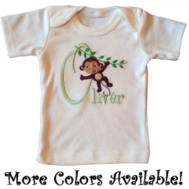 Swinging Monkey Personalized T-shirt