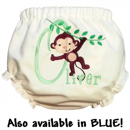 Personalized Monkey Baby Bloomers