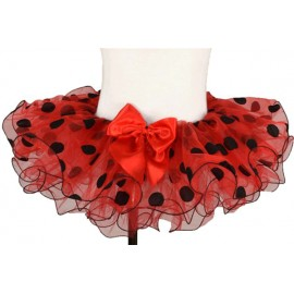 Red and Black Polka Dot Toddler Tutu