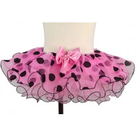 Pink and Black Polka Dot Toddler Tutu