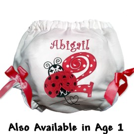Red Ladybug Birthday Baby Bloomers