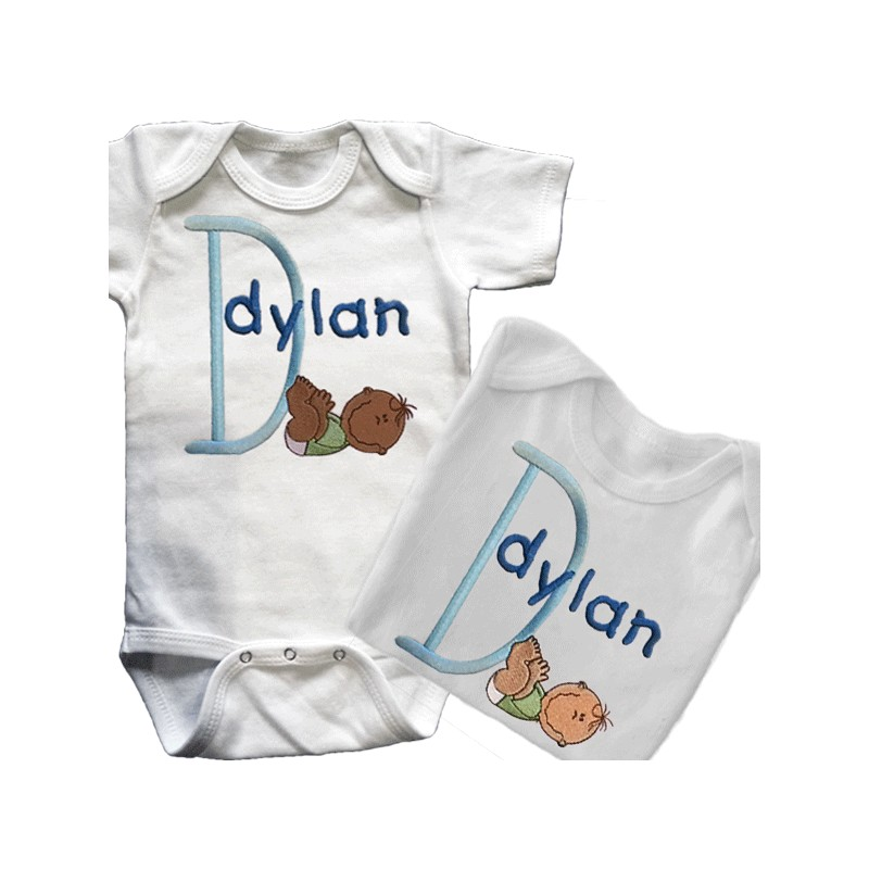 Baby Smiles Personalized T shirt or esie Lucky Skunks