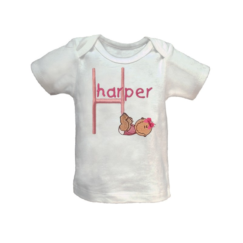 Personalised Baby T-Shirts. For baby t-shirt printing, design your own baby t-shirt with text, images or our custom designs. 11 colours. Fast, quality custom t-shirt printing for unique personalised gifts.