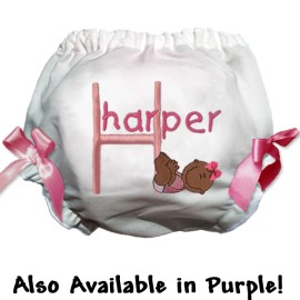 Baby Girl Smiles Personalized Bloomers