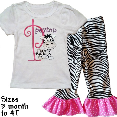 Cute Zebra Baby and Toddler Outfit