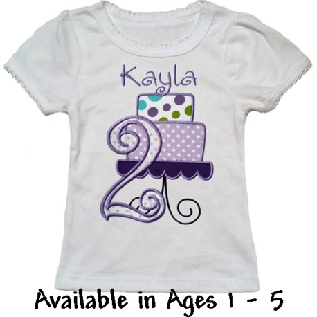 1st Birthday Purple Cake T-shirt