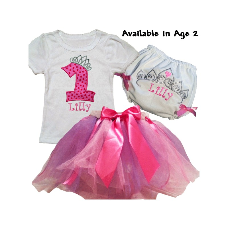 Personalized 1st Birthday Pink & Purple Tutu Outfit ...