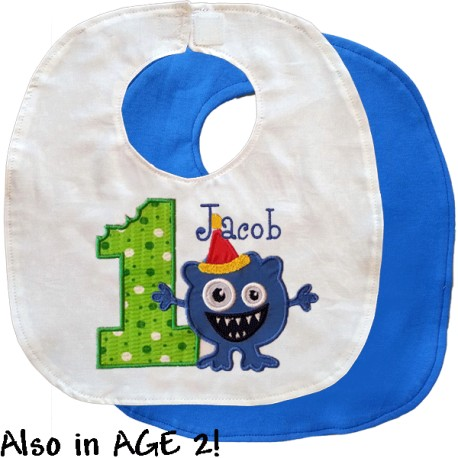 Birthday Monster Bib