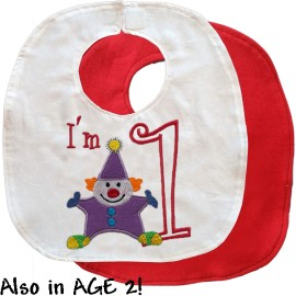 Birthday Clown Bib