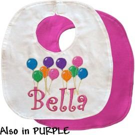 Personalized Birthday Balloons Bib