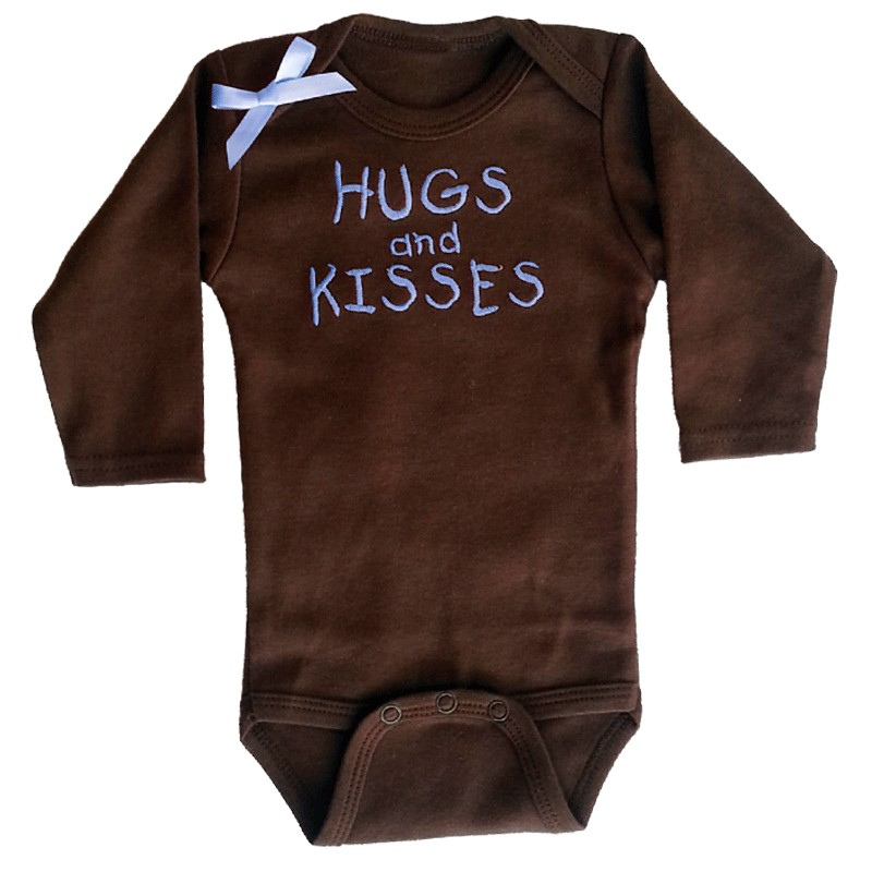 Brown Hugs And Kisses Baby Shirt Lucky Skunks Baby
