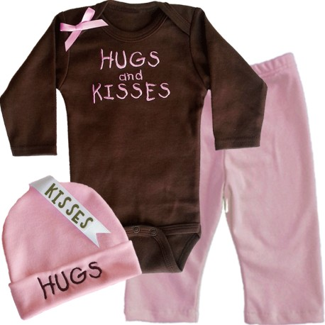 Brown And Pink Baby Outfit Lucky Skunks Baby Toddler Clothes