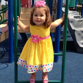 Delightful In Dots Yellow Baby & Todder-Dress