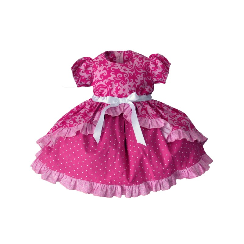 ruffled princess baby and toddler dress  lucky skunks