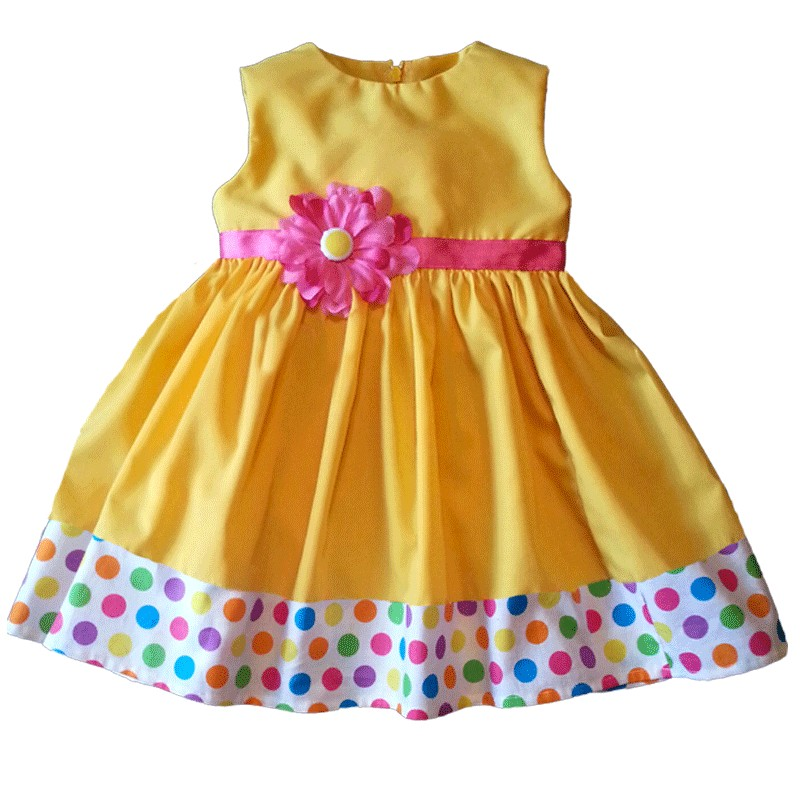 cute yellow baby & toddler dress