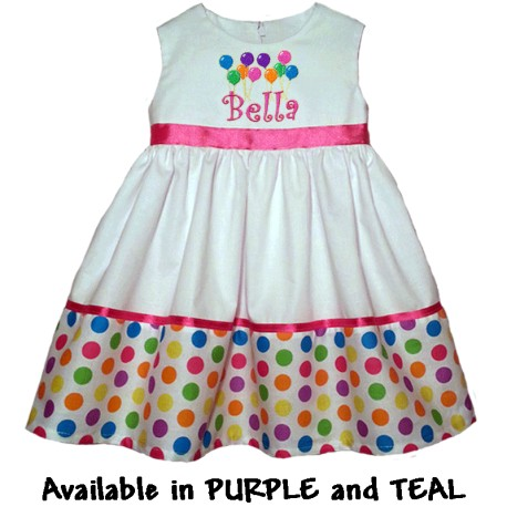 Delightful In Dots Baby and Toddler Party Dress