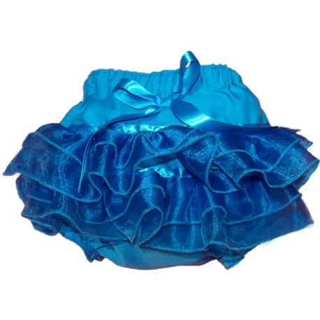 Teal Ruffled Baby Bloomers
