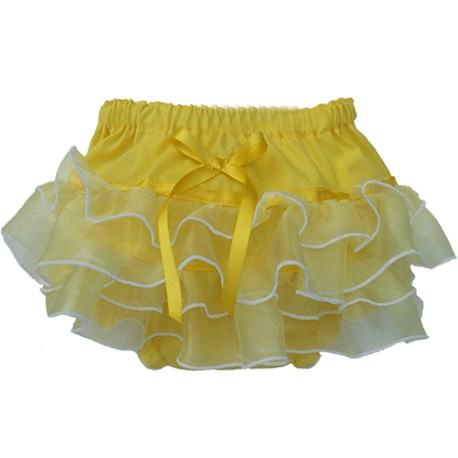 Yellow Ruffle Baby Bloomers
