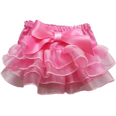 Pink Ruffled Baby Bloomers