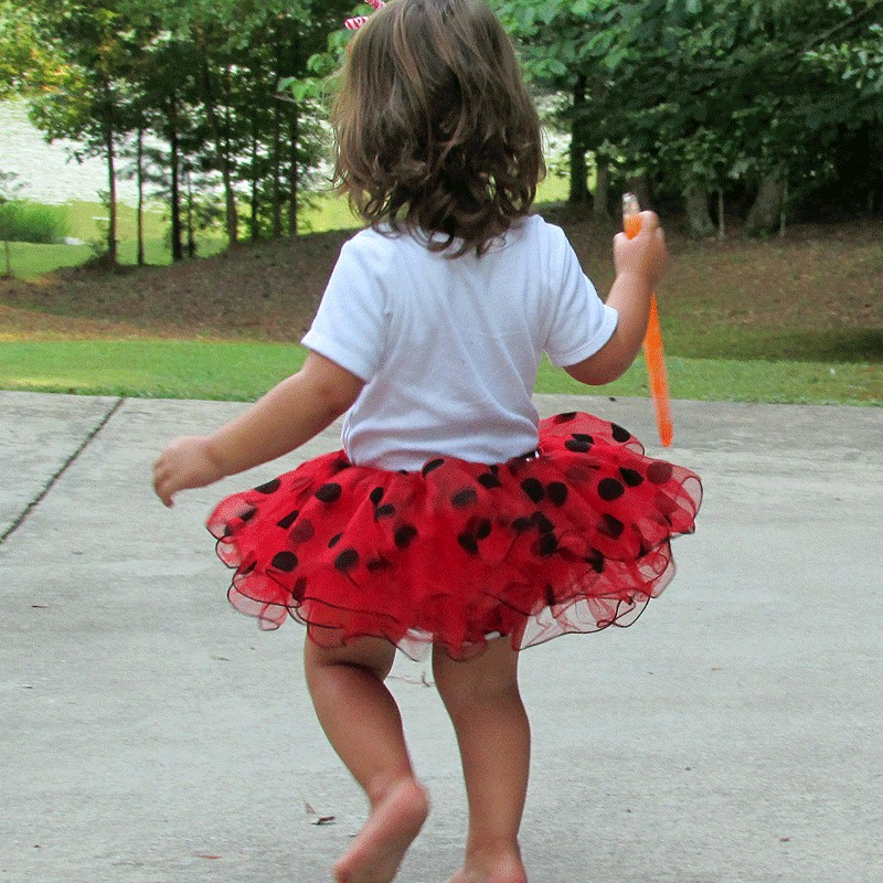 Red Ladybug Tutu Outfit Lucky Skunks Baby Toddler Clothes
