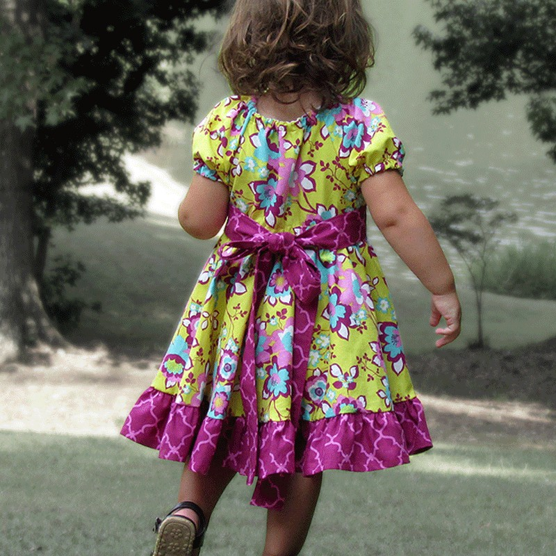 Beautiful Yellow Floral Baby And Toddler Dress Lucky