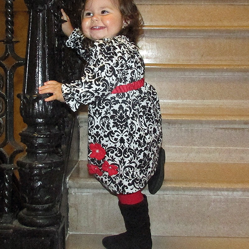 Black White And Red Baby Amp Toddler Dress Lucky Skunks