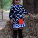 Black & White Fall Baby and Toddler Dress