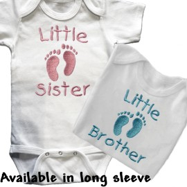 Little Sister Little Brother Baby Shirt
