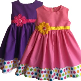 Delightful In Dots Baby Todder Dress