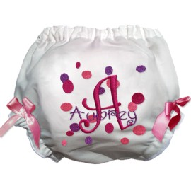 Pink and Purple Dot Diaper Cover