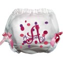 Pink and Purple Dots Diaper Cover