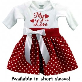 Red Polka Dot Onesie Baby Dress