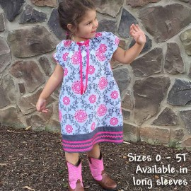 Pink & Gray Toddler & Baby Dress